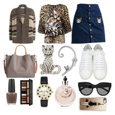 """Cat person"" by pulseofthematter ❤ liked on Polyvore featuring Closed, Dolce&Gabbana, Yves Saint Laurent, Le Specs, Cara, Dooney & Bourke, OPI, Kat Von D, Kate Spade and Valentino"