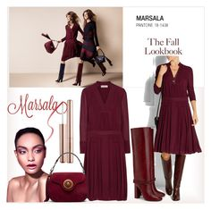 """""""Marsala-Color of the Year"""" by b-bakai ❤ liked on Polyvore featuring Tory Burch and Sephora Collection"""