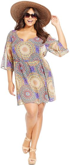 Plus Size Printed Cover-Up