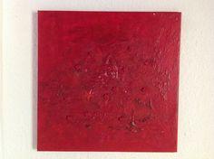 Quadrat VI Acryl auf Leinwand / Sand/ Sterne