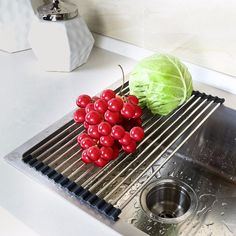 Lifewit Over the Sink Multipurpose Roll-Up Dish Drying Rack 304 Stainless Steel and Silicon Foldable Dish Rack Storage Holders kitchen gadgets <3 AliExpress Affiliate's Pin. Detailed information can be found by clicking on the VISIT button