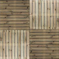 Geïmpregneerde houten tuintegel 100x100cm reliëf vlonders dakterras sfeer