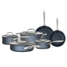 NEW! Bialetti Sapphire 'NanoTec Infused' Nonstick 10-piece Cookware Set, Gray Finish *** To view further for this item, visit the image link.