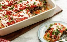 Kale and Portobello Lasagne by Food Network Kitchens (Cheese, Kale, Mushroom) @FoodNetwork_UK