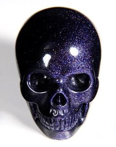 ✿ Blue Sand Stone Skull ✿ Beautiful <3