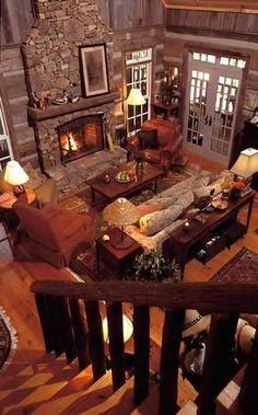 Beautiful Log Cabin Homes Fireplace Design Ideas 23 Wild Log Cabin Decor Ideas Log Cabin Living, Log Cabin Homes, Log Cabins, Mountain Cabins, Barn Living, Mountain Homes, Cozy Living, Home Fireplace, Fireplace Design