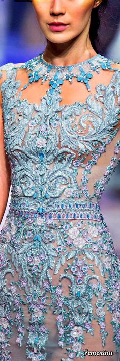 Michael Cinco Spring Summer 2017 Couture Collection - Share The Looks Michael Cinco, Glamour, Special Dresses, Couture Dresses, Color Azul, Beautiful Gowns, Couture Fashion, Pretty Dresses, Designer Dresses