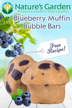 Free Blueberry Muffin Bubble Bars Recipe by Natures Garden