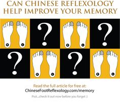 Can Chinese Reflexology Help Improve Your Memory?