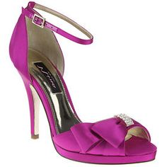 """Nina Earleen in Orchid Crystal Satin 4"""" heel On sale for $65 but may not have all sizes"""