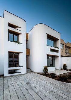 iran architecture modern house results - ImageSearch Organic Architecture, Modern Architecture House, Facade Architecture, Residential Architecture, Amazing Architecture, Casa Art Deco, Art Deco Home, Architecture Magazines, Terrazzo