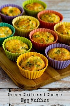 These Green Chile and Cheese Egg Muffins are a great make-ahead breakfast.