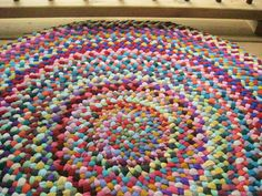 I love braided rugs.  This is one on Etsy.
