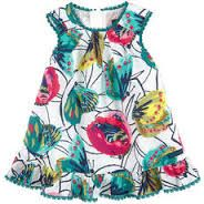 Catimini - Colorful Butterfly Print Baby Dress