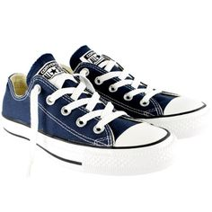 Womens Converse All Star Ox Low Chuck Taylor Chucks Sneaker Trainer - Navy - 7.5