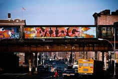 """MIDG Car Passing Through, Bronx,"" 1982. © Martha Cooper/Courtesy of Steven Kasher Gallery"