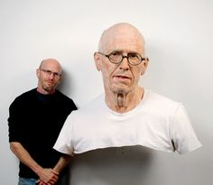 The Skewed Sculptures of Evan Penny sculpture portraits photoshop manipulated faces