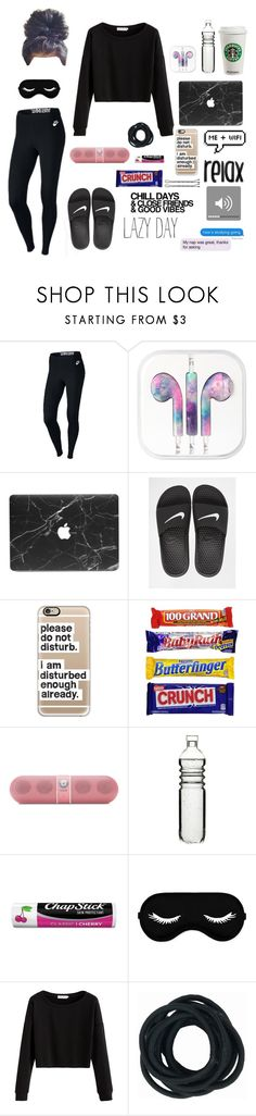 """""""Finally On Break"""" by ahriraine ❤ liked on Polyvore featuring NIKE, Casetify, Beats by Dr. Dre, Dot & Bo and Chapstick"""