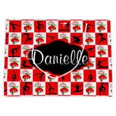 PERSONALIZED GYMNAST CHRISTMAS CANDY CANE GIFT BAG  Your Gymnast will be thrilled with this awesome Gymnastics gift bags. http://www.zazzle.com/collections/gymnast_christmas_gift_bags-119284863475863889?rf=238246180177746410 #Gymnastics #Gymnast #IloveGymnastics #Gymnastchristmasgifts #WomensGymnastics #gymnastgiftbag #PersonalizedGymnast