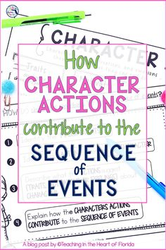 How Character Actions Contribute to the Sequence of Event Activities 6th Grade Ela, 3rd Grade Reading, Student Reading, Reading Passages, Reading Comprehension, Comprehension Questions, Close Reading Strategies, Reading Skills, Teaching Character
