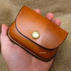 Leather coin purse wet moulded