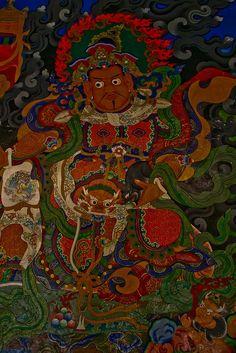 painting at the Lamayuru Monastery, Ladakh, North india