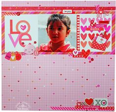 Piali's LOVE BUG Layout - cute layout.  Can reuse for Christmas album
