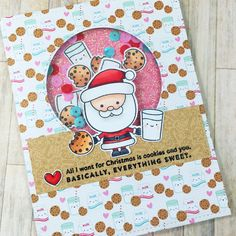 Scrapbena Creations on YouTube | Doodlebug Milk and Cookies | SSS December Card Kit | 10 Cards 1 Kit