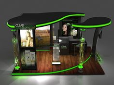 Clear Booth Design on Behance Kiosk Design, Display Design, Retail Design, Pop Design, Stand Design, Exhibition Stall Design, Exhibition Stands, Expo Stand, Modelos 3d