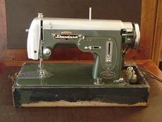 Standard badge,class 15 sewing machine, made in Japan, early zig-zag model. Nice.