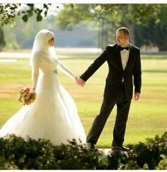Bridal Hijab I love                                                                                                                                                     Plus