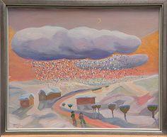 Tuomas Mäntynen: Pilvet, 1986, öljy kankaalle, 40x50 cm - Bukowskis Market 2013