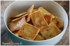 Low Carb Cheese Crackers Recipe - BudgetMeals.info