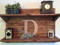 This stunning handcrafted Rustic Wood Shelf would make for a eye catching display in any room of your home!   It has been sanded smooth,