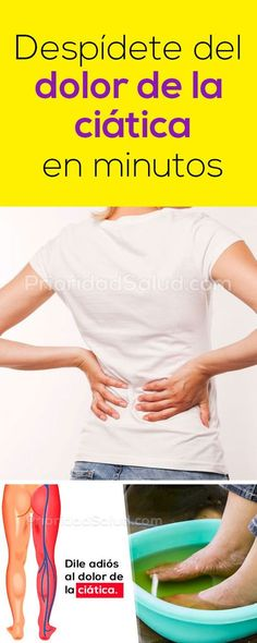 Despídete del dolor ciatica en minutos.