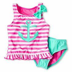 Breaking Waves 2pc Sailor Ruffle Tankini Swimwear - JCPenney