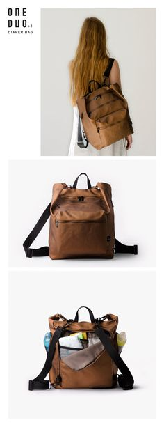 Diaper bag backpack Changing bag Baby backpack diaper by OneDuo