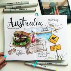 Travel page in bullet journal