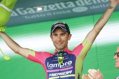 Overall Winner after Stage 4 Czech Tour (photo: Diego Ulissi on the podium again)