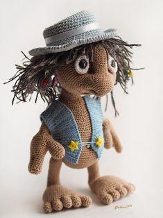 #crochet #pattern #Hobbit #amigurumi For Lord Rings fan, crochet tutorial ENGLISH, e-book Pattern #Goblin art #doll, plush toy elf, #monster #troll
