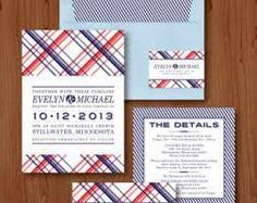 plaid wedding invitations - Google Search