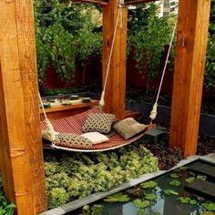 #hammock #swinging #pillows Looks so comfortable