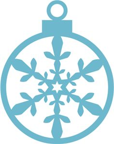 Silhouette Online Store - View Design #15124: snowflake ornament