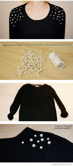 .: DIY: Pearl Embellished Shoulders
