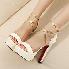 Casual PU Upper Stiletto Heels White Colors Women Pumps: dressbuying.com
