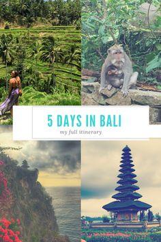 5 days in bali #bali #indonesia #travel #wanderlust Bali Travel, China Travel, Thailand Travel, India Travel, France Travel, Japan Travel, Best Of Bali, Bali Honeymoon, Vietnam Travel
