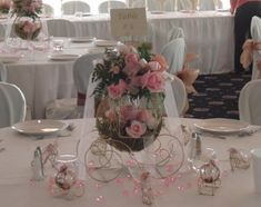 Cinderella carriage centerpiece. Cinderella coach. Wedding centerpiece, Disney Wedding.Bridal Shower Centerpiece.