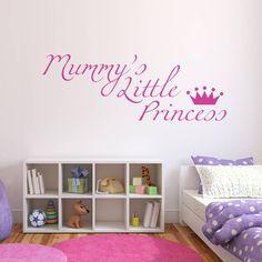Mummy's Little Princess Wall Sticker