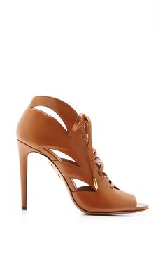 Jupiter Lace-Up Leather Sandals by Aquazzura.