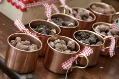 Farm Theme: Serve treats in vintage tin mugs